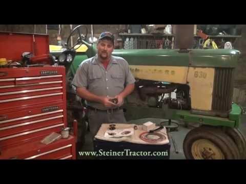 Fuel Gauge Replacement on a John Deere 630 Tractor - YouTube