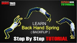 Learn How To Do Back Handspring ( Backflip ) Tutorial in Hindi | Step by Step | Dance Tags Academy