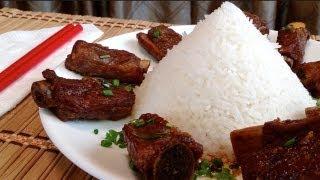 Vietnamese Food-caramelized Pork Short Ribs-suon Ram Man-how To Make Asian Braised Pork Short Ribs