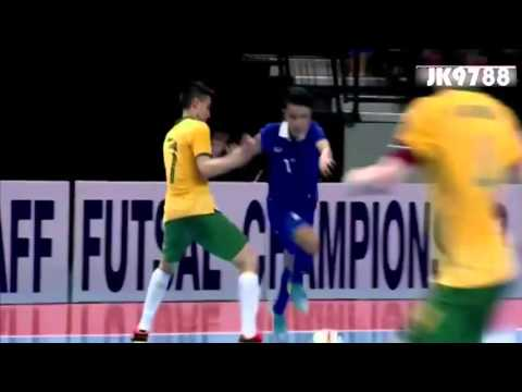 6 นาที 5 ลูก ฟุตซอล  ทีมชาติไทย VS ทีมชาติออสเตรเลีย