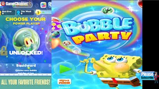 SpongeBob Bubble Party Nickelodeon Android İos  Free Game GAMEPLAY VİDEO