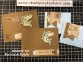 Stampin' Up! Best Catch Bundle Card and Gift Card Holder