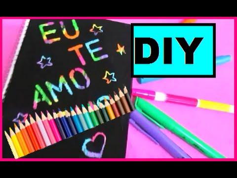 Diy Caderno Magico Material Escolar Youtube