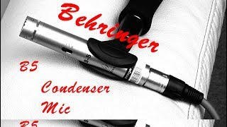 Behringer B5 Condenser Microphone Review - a Low Noise Pencil Mic