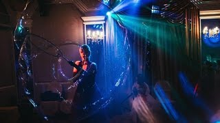 Шоу мыльных пузырей на свадьбе в Балаково