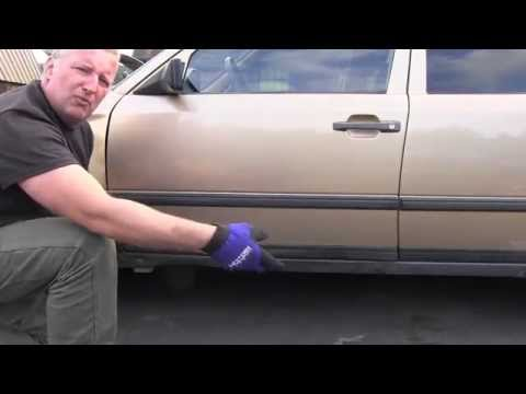 Mercedes W124 Removing Exterior Door Trim Youtube
