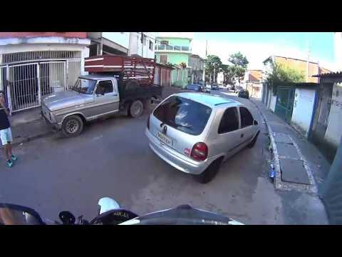 Motorcycle Police Chase in São Paulo - Brazil (Helmet Cam)