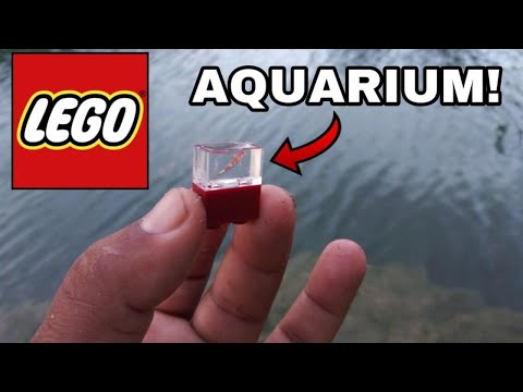 WORLD'S SMALLEST AQUARIUM Fish Tank! LEGO With FLEX SEAL DIY