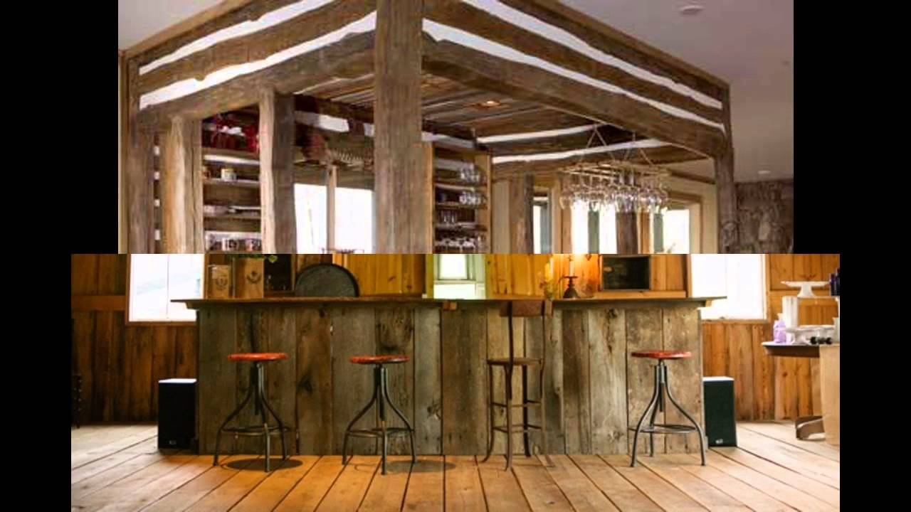 Rustic bar design ideas - YouTube