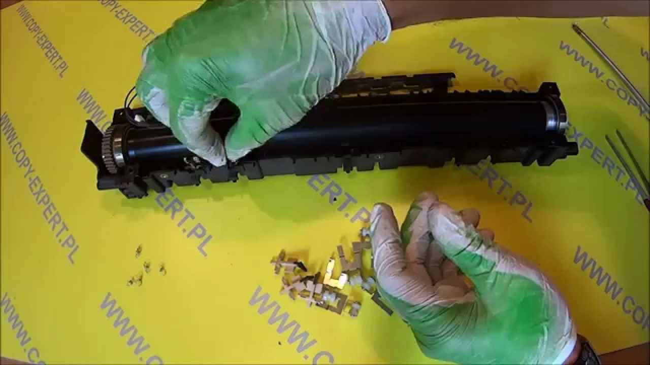 RICOH AFICIO MP 2000 1600 how to remove upper picker fingers thermistor  spring by Tomasz Jemiołek