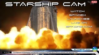 STARSHIP CAM - SpaceX Boca Chica Texas Live Webcast of Starship Hopper Launches