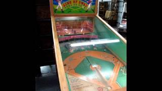 King of Swat Coin-Op Pinball Baseball Game