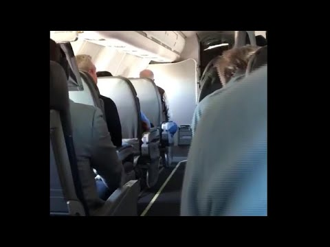 Passenger captures the moment flight was told to 'brace for impact'