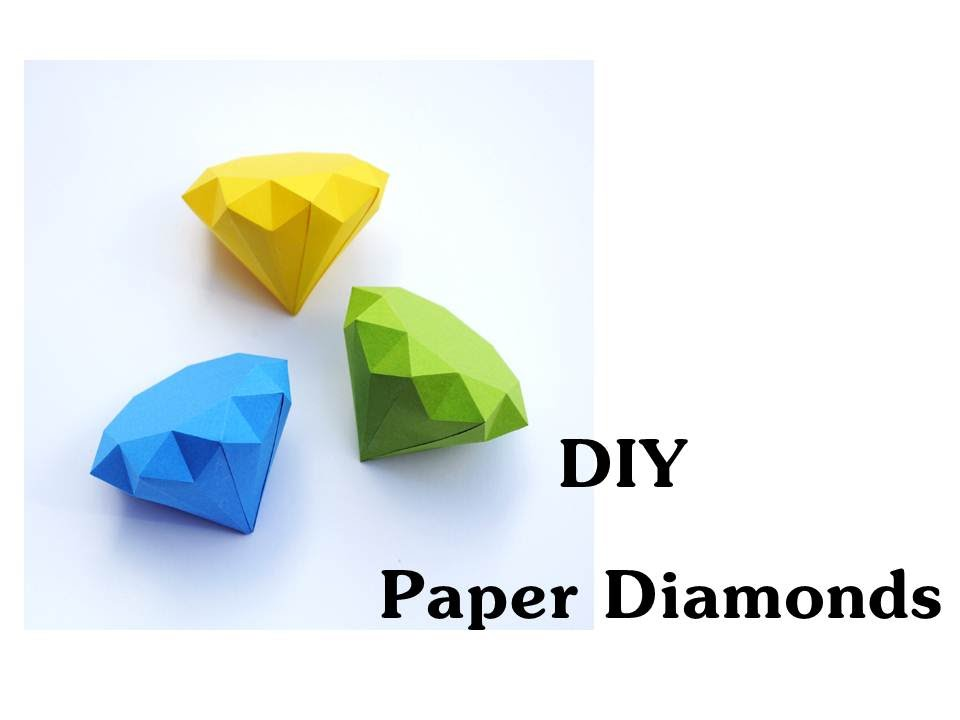 Diy How To Make Paper Diamonds Youtube