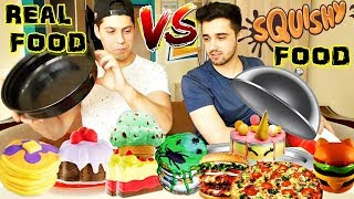 SQUISHY FOOD vs. REAL FOOD !! (CHALLENGE NEBUN)
