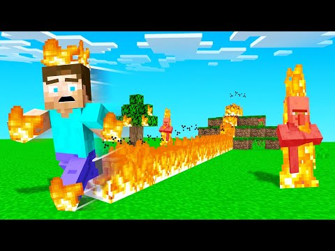 MINECRAFT But Everything You TOUCH Catches FIRE!