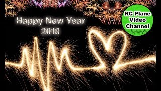 Happy New Year Flight 2018 with fireworks and funny people