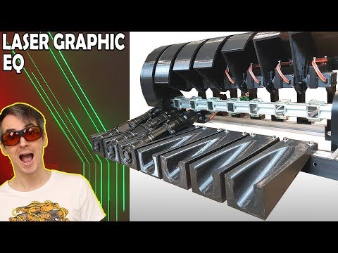 Building a Laser Projector Graphic EQ Display | James Bruton