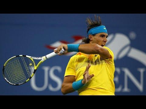 Rafael Nadal Crazy Return vs. Fernando Gonzalez at 2009 US Open Tennis
