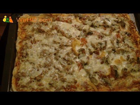 rezept pizza grundrezept mit grundteig und belag pizzateig youtube