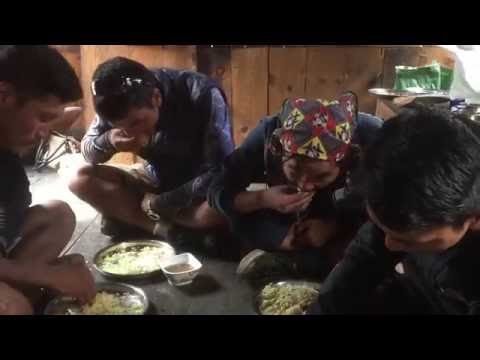 Dal - bhat eaten by Sherpas