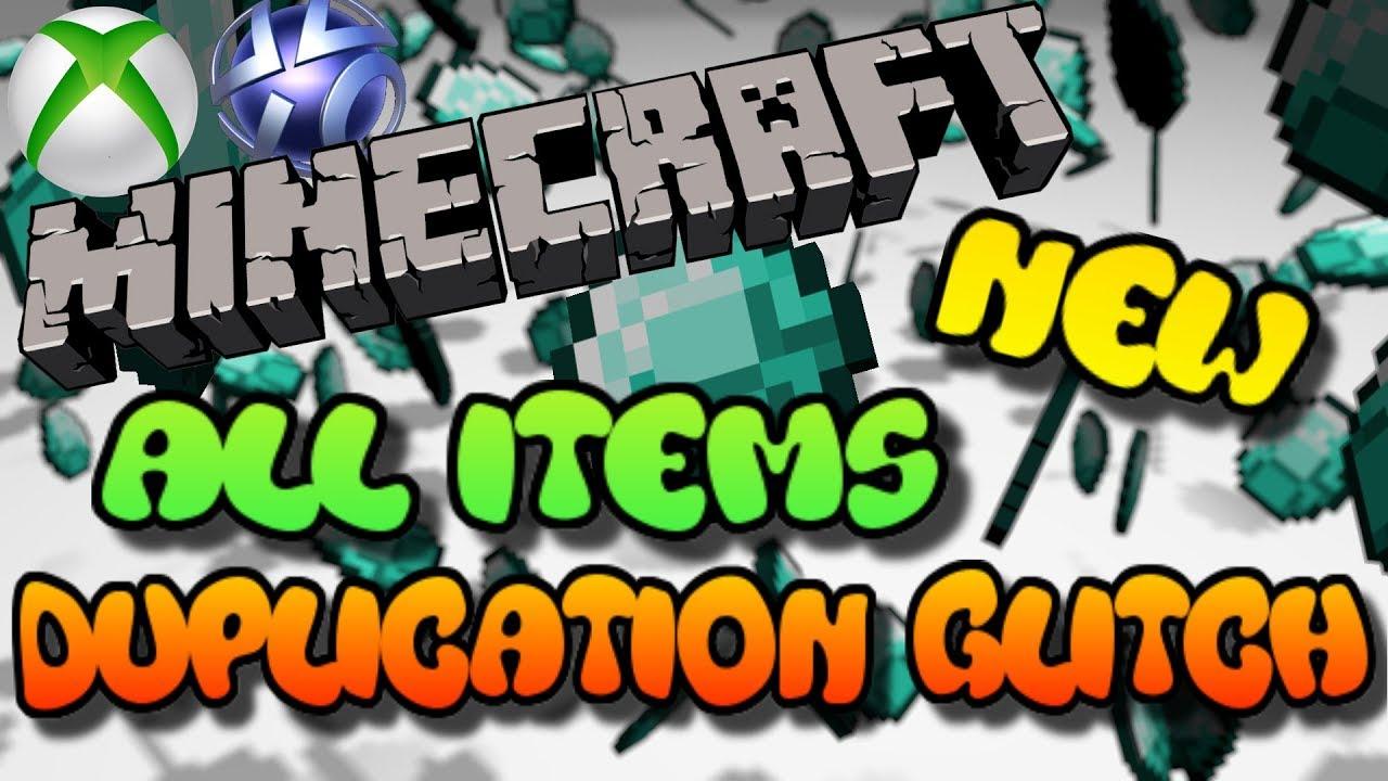 xbox one minecraft duplication glitch