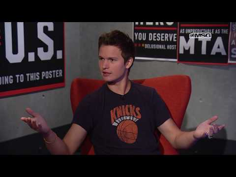 Ansel Elgort is Pumped For the New York Knicks