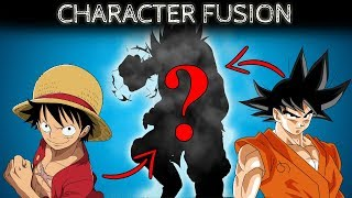 Anime Character FUSION | DRAWING | Luffy and Goku - It Gets Creepy