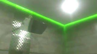 Парящий натяжной потолок в ванной комнате(Парящий натяжной потолок в ванной комнате., 2016-03-04T14:48:03.000Z)