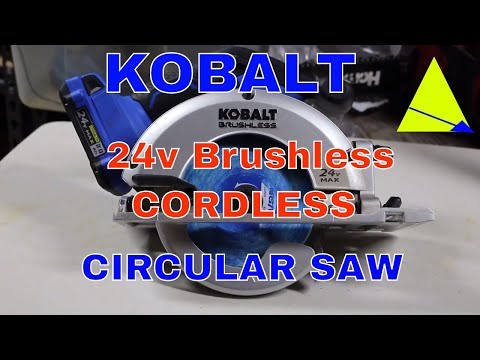 Kobalt 24v max Brushless 6 1/2 cordless circular saw review. From Lowes