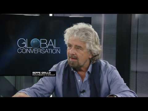 """Beppe Grillo a Euronews """"Apocalisse dell'Informazione"""" (INTEGRALE)"""