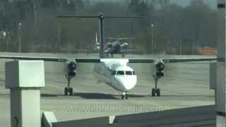 Corporate jets and ATR's take off from Munich airport