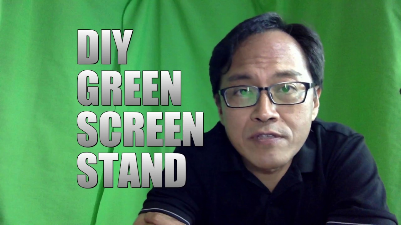 DIY Foldable Green Screen Stand