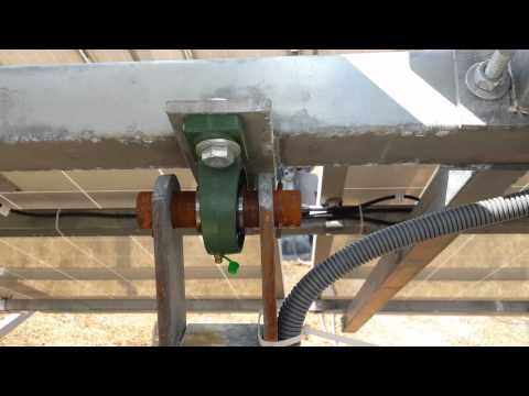 Single Axis Solar Tracker With Auto Tracking System Youtube