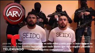 Escabroso video muestra a policías secuestrados | Al Rojo Vivo | Telemundo