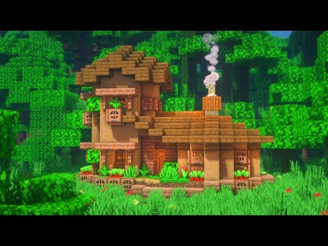 Minecraft How To Build A Jungle Starter House Simple Starter House Survival Tutorial Youtube