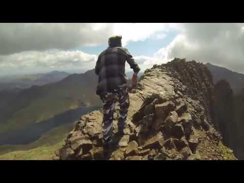 Mount Snowdon, Crib Goch Ridge Walk, Snowdonia in Summer