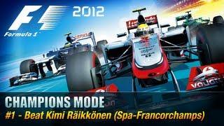 F1 2012 - Champions Mode - #1 Kimi Räikkönen [Xbox 360 / PS3 / PC]