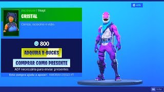 The new BRONTO and CRISTAL skins have arrived at the Fortnite! * Shop Day 03/08/19 *..