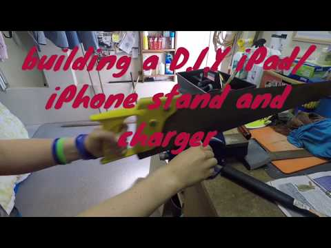 Building a DIY wooden iPad/iPhone charger stand!