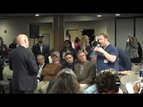 An angry constituent confronts Tom MacArthur (NJ) at a town hall
