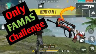 🔥Only Famas Chellenge Best Gameplay Ever With Funny Sounds || BOOYAH