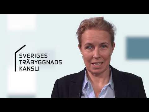 Susanne leder Sveriges Träbyggnadskansli - Träpriset 50 år