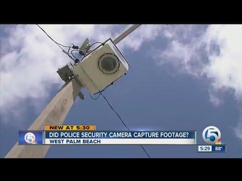 Did police security camera capture footage?