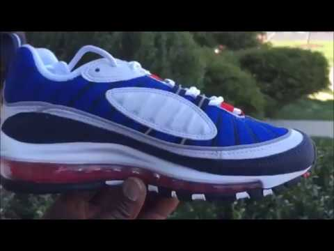 Details about Nike Air Max 98 OG Tour Yellow White Midnight Navy 640744 105 Gundam size 8 13