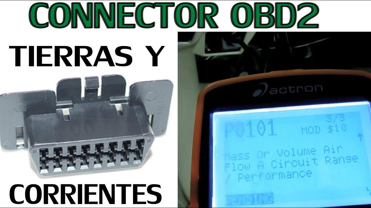 Tierras y corrientes del conector OBD2 (como probarlas) - YouTube