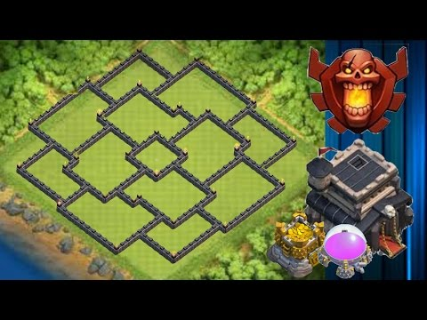 New EPIC Th9 Hybrid/Trophy/War Base - Clash Of Clans (CoC) (Toxix Gaming)