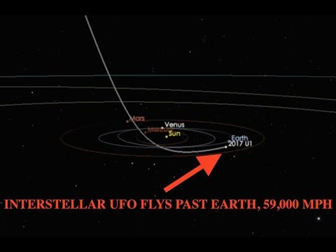 Massive Cigar Shaped UFO Cruises Past Earth at 59,000 MPH, Astronomers Baffled