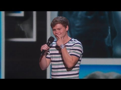 America's Got Talent 2015 S10E15 Live Shows - Drew Lynch Stuttering Stand up