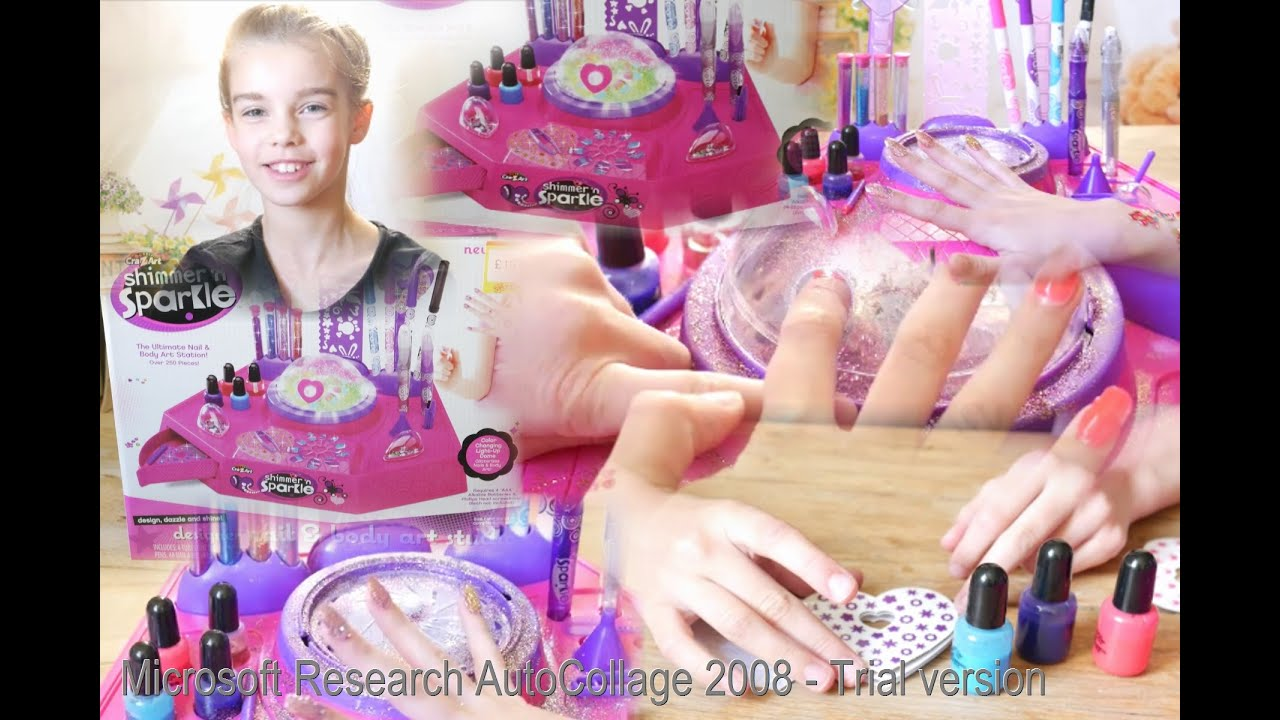 Toy review shimmern sparkle designer nail and body art studio shimmern sparkle designer nail and body art studio stick your nails into glitterizer prinsesfo Choice Image